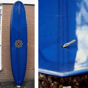 9'8  Bing Gold Standard Triple Stringer Navy blue glitter tint + deck patch